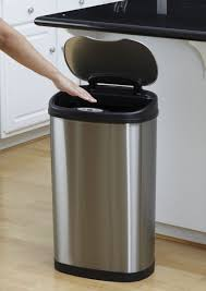 nine stars motion sensor oval touchless 13 gallon trash can