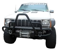 toyota jeep black olympic 4x4 products cherokee xj jeep cherokee winch bumper