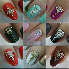 jeweled bridal nail designs nail jewels pinterest bridal