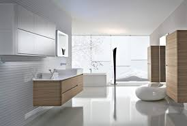 Bathroom White Porcelain Flooring Stainless by Master Bathroom Modern Designs Walnut Finish Vanity Cabinet In