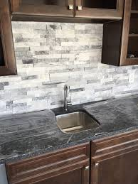 Stone Kitchen Backsplashes Surprising Gray Stone Kitchen Backsplash