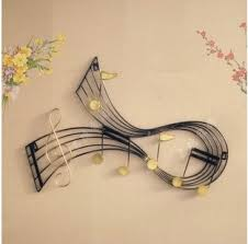 Music Note Decor Music Metal Wall Art Drifting Musical Notes Metal Wall Sculpture