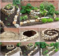 look at this amazing spiral vegetable garden