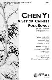 choral folk song arrangements from china choir