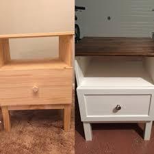 bedroom nightstand skinny nightstand bedside desk ikea simple