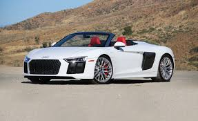 audi r8 blacked out 2017 audi r8 spyder instrumented test review car and driver