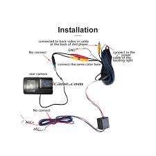 hd waterproof blue ruler night vision car rear view camera for