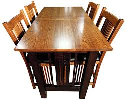 galena trestlend table and chairs top view amish furniture