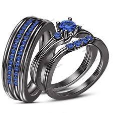 black gold sapphire engagement rings wedding rings what is black gold filled black engagement