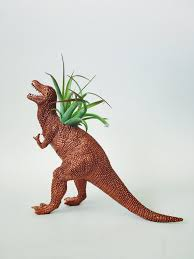 Animal Planter by Large Copper T Rex Dinosaur Planter With Air Plant U2013 Two Trees
