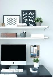 wall shelves above desk desk ideas ergonomic full image for wall