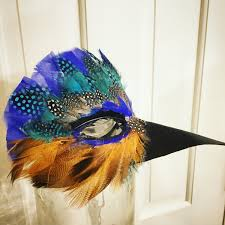 crow mask halloween kingfisher masquerade feather mask mardi gras mask