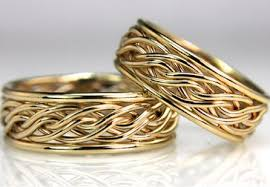 wedding rings gold braided unique wedding rings handmade by artist todd alan