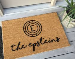 35x23 fade proof embedded nylon personalized welcome mat