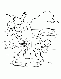 pokemon sudowoodo coloring pages for kids pokemon characters