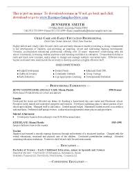 Latest Resume Sample by Resume Template Child Care Worker Free Latest Resume Sample Resume