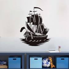pirate home decor online shop pirate ship silhouette wall sticker home decoration