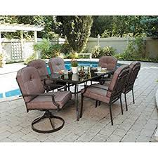 Patio Furniture Dining Set 7 Patio Dining Set Seats 6 Enjoy The Outdoors