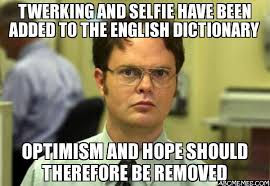Dictionary Meme - twerking and selfie have been added to the english dictionary