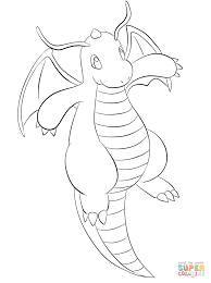 dragonite coloring free printable coloring pages