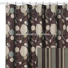 Green And Brown Shower Curtains Brown And Green Shower Curtain Curtains Ideas