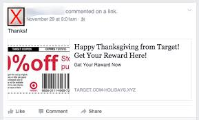 fake target black friday ad how you can spot fake coupons on facebook and why it matters