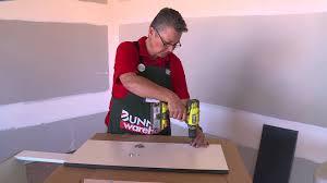 bunnings kitchen cabinet doors how to hang corner cabinet doors diy at bunnings youtube