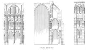 sections of noyon cathedral gothic architectural history
