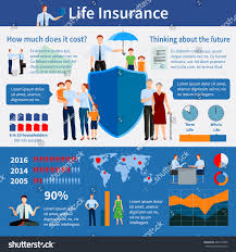 Eros Map Life Insurance Infographics World Map Families Stock Vector