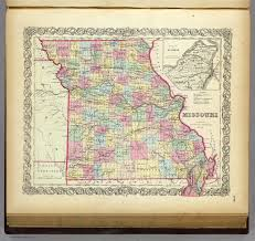 Missouri State Map Missouri