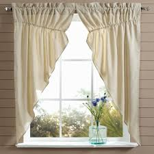 prairie gathered swag curtains country style curtains