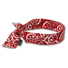 cooling headband chill its 6700 evaporative cooling bandana tie blue
