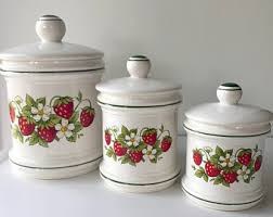 vintage ceramic kitchen canisters ceramic canisters etsy