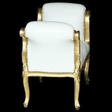Sitzbank Esszimmer Antik Sitzbank Esszimmer Antikes Barock Design Weiß Gold Edel