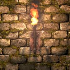 Stone Wall Sconce Wall Block Story