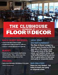 the clubhouse sponsored by floor u0026 decor tennessee smokies content