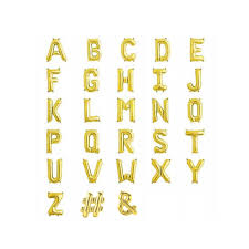 gold letter balloons small 13 5in foil birthday name age