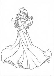sleeping beauty aurora coloring pages kids