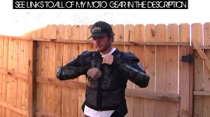 motorcycle riding jackets with armor fox titan motorcycle armor 40 clone 1 year review dcam o o youtube