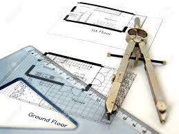 architektur cad technische architektur cad zeichnung mit zirkel und lineal platz