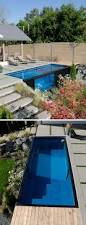 a swimming pool made from a shipping container this house has one