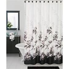 Ivory Shower Curtain Black And Ivory Shower Curtains Home Design And Decoration