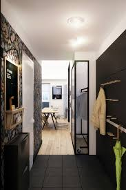 Interior Design Black Tiny Apartment In Black And White Charms With Space Saving Design