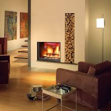 double sided wood burning fireplace 111 trendy interior or wood