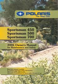 polaris offroad vehicle sportsman 450 user guide manualsonline com
