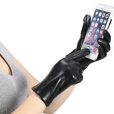 marsue women u0027s full hand touchscreen leather gloves premium
