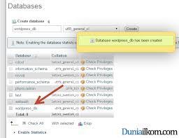 cara membuat database baru mysql cara membuat database mysql dengan phpmyadmin duniailkom