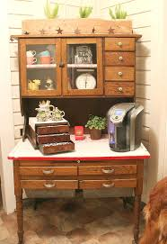 transform an antique cabinet into a coffee station hometalk