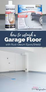 How To Properly Finish A Basement How To Refinish A Garage Floor With Rust Oleum Epoxyshield Keys
