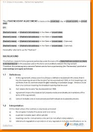6 partnership agreement sample outline templates